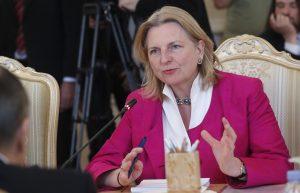 Austrian foreign minister Karin Kneissl