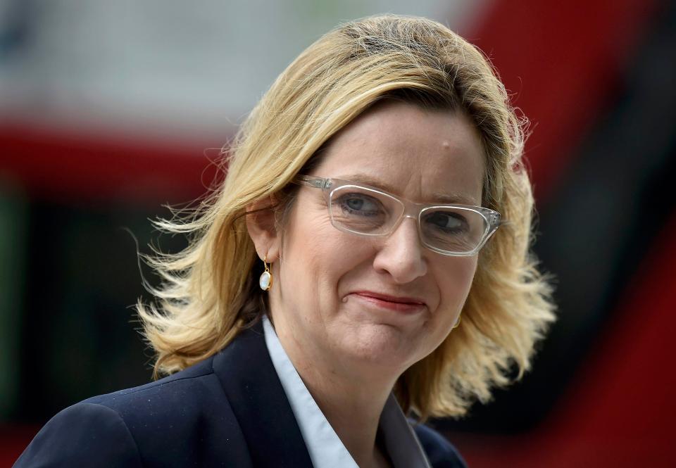 UK Home Secretary Amber Rudd