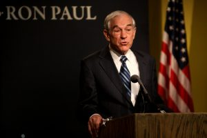 Ron Paul giving a speech