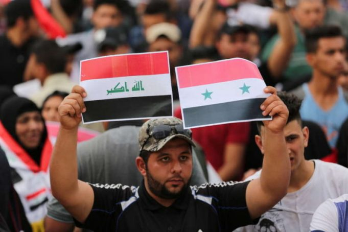 Iraqi protests against us strikes in syria