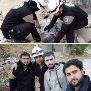White helmets fake