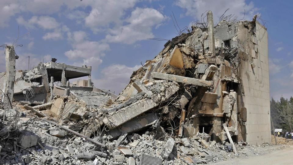 Barzeh facility ruins
