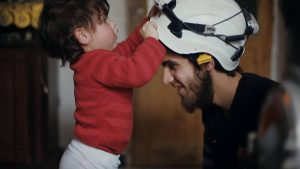 White helmet children