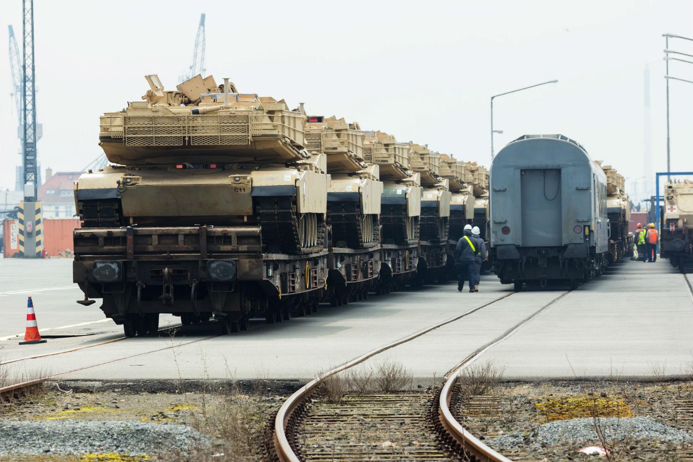 us tank brigade on train