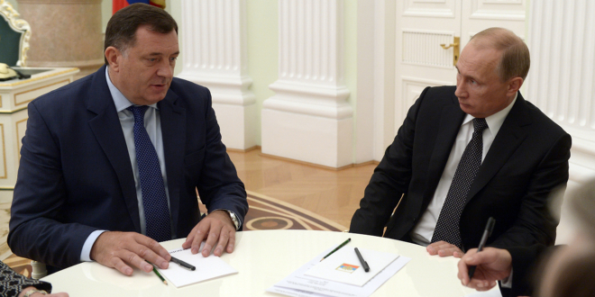 Dodik to Warn Putin of West's Anti-Russian Actions