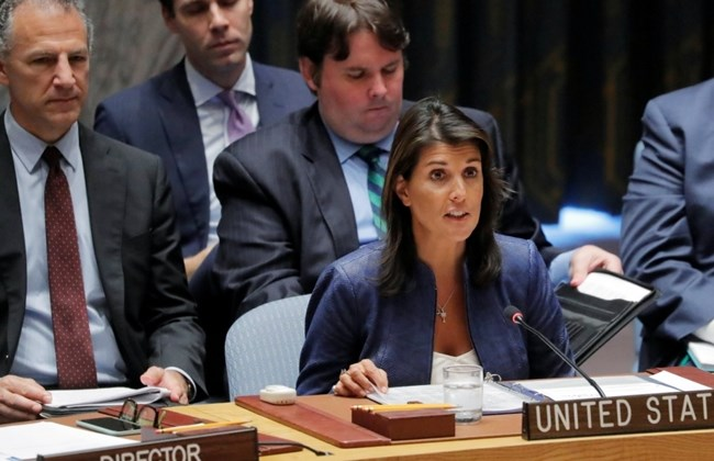 U.S. envoy Haley questions Palestinian refugee numbers