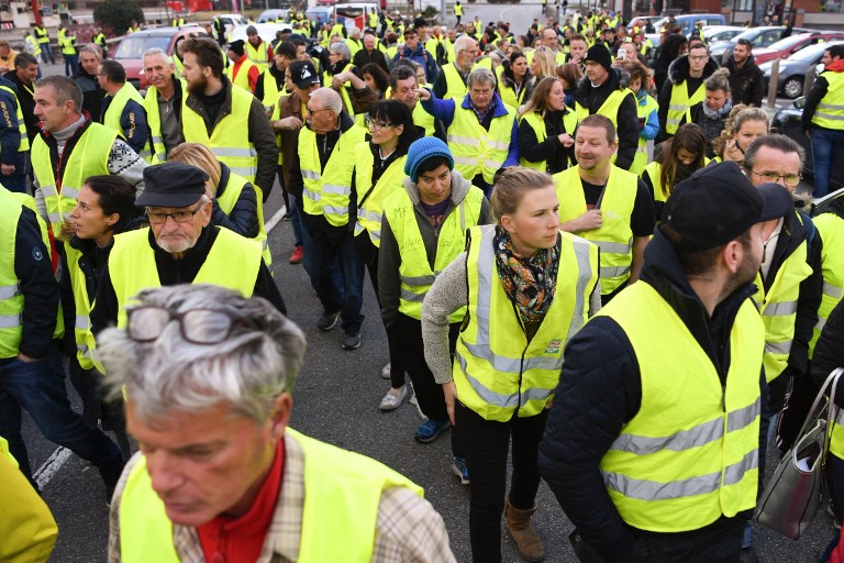 Yellow Vests March in Brussels