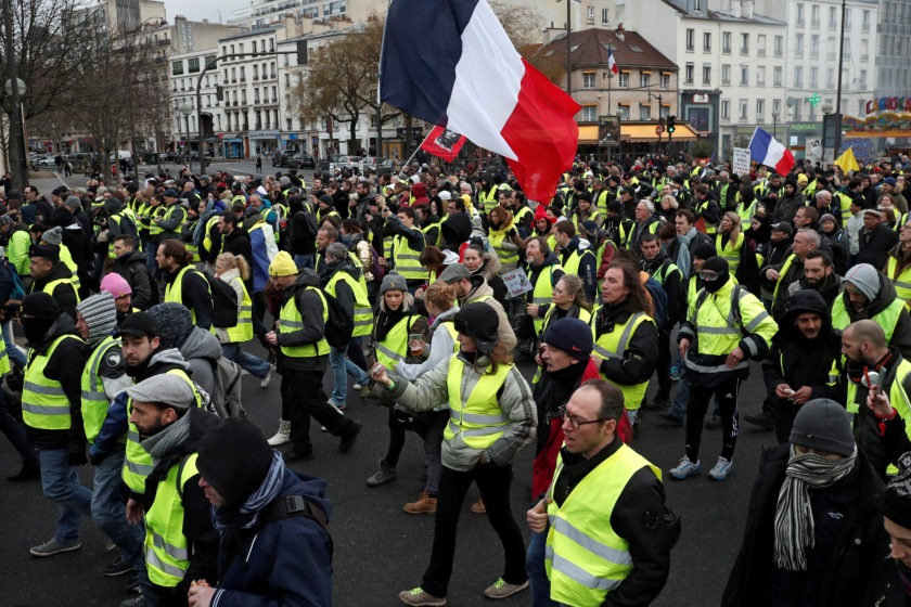 Yellow Vests March on International Workers' Day