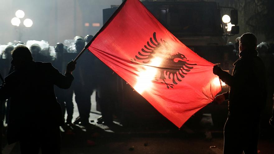 Albanian protesters clash with police in election dispute