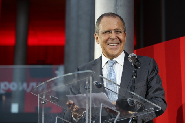 Lavrov attended the inaugural ceremony of the renovated Swiss embassy in Moscow