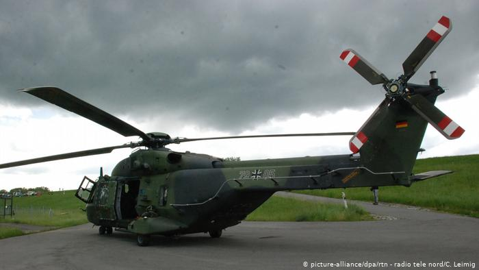 German military helicopter crashes in northern Germany