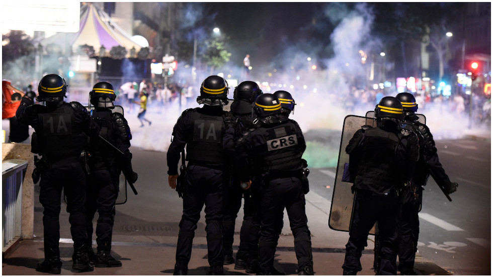 Scores detained, tear gas used against rowdy Algerian football fans in France after Africa Cup final