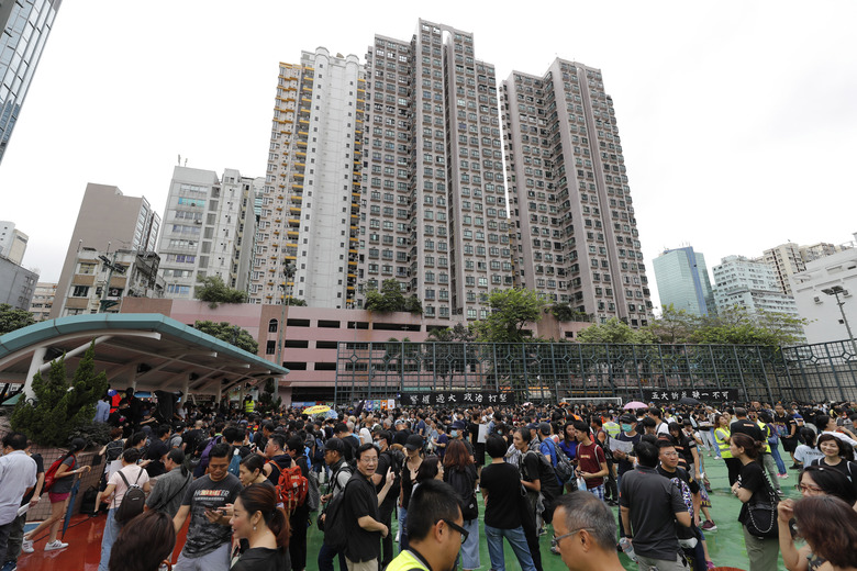 Hong Kong police warn protests off designated route illegal