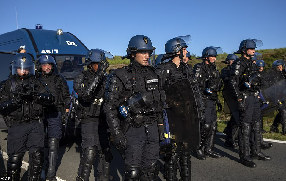 Protests Against Police in Hendaye, France as Security for G7 Summit Heightened