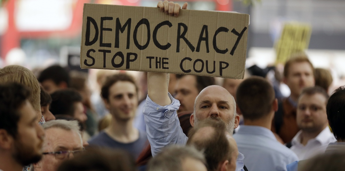 Massive Protests in UK to Stop the Coup