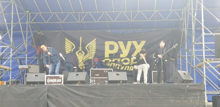 """Maidan rage against the Steinmeier formula: """"patriots"""" are entertained by songs about independency"""