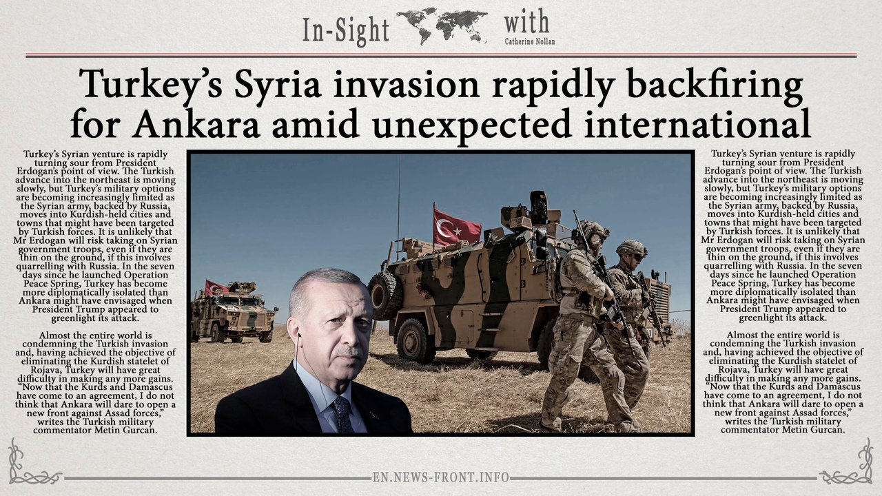 Turkey's Syria invasion rapidly backfiring for Ankara amid unexpected international condemnation