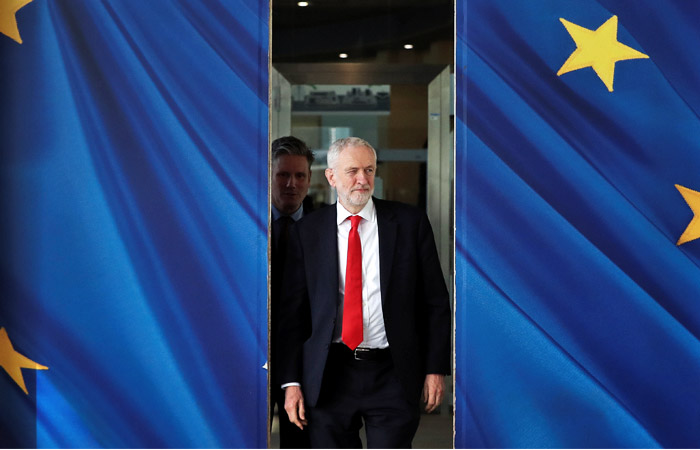 Labor leader Corbyn pledges support for early UK elections