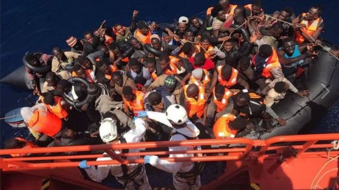 It is believed that migrants drowned near the Spanish island of Lanzarote