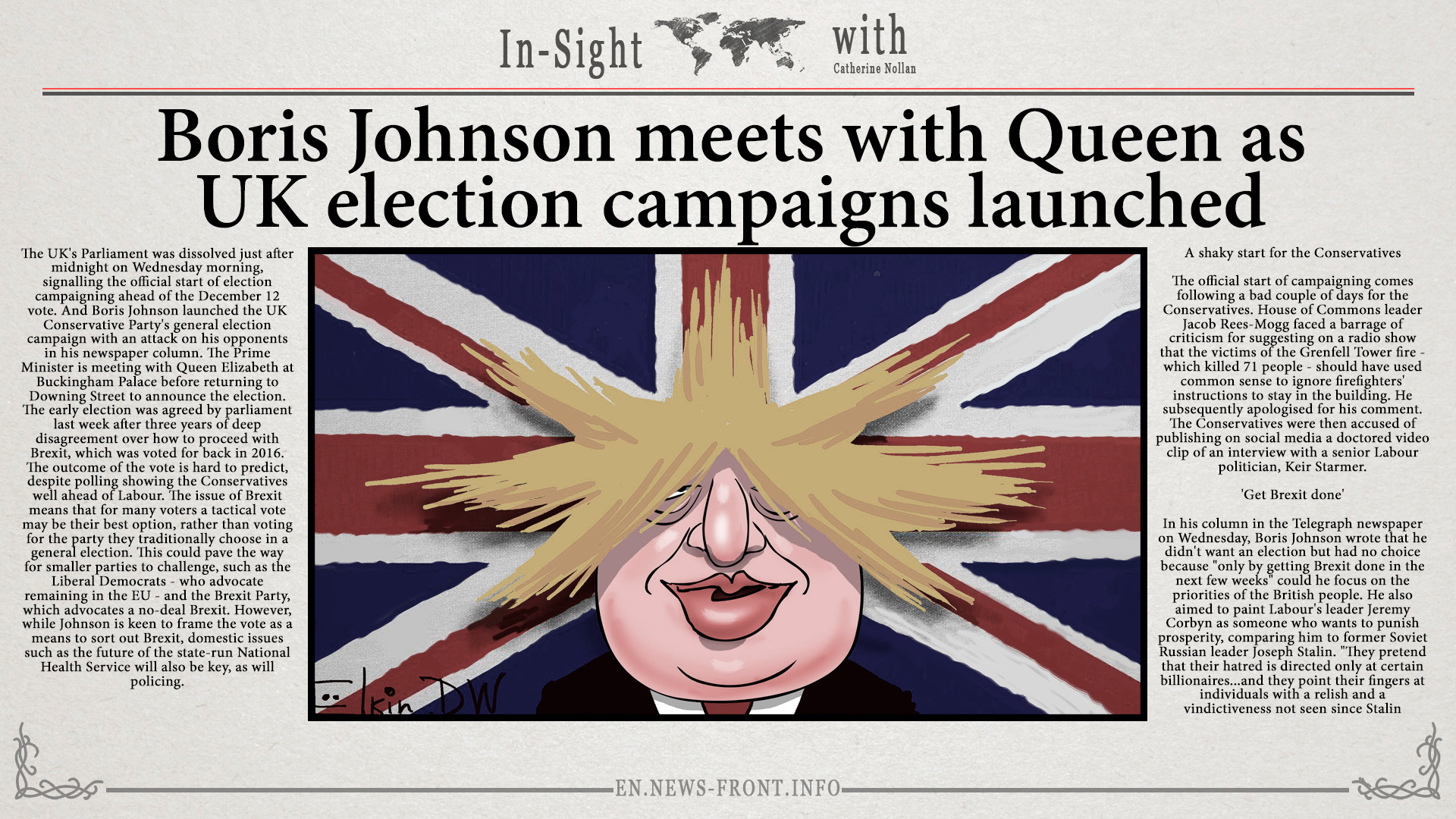 Boris Johnson meets with Queen as UK election campaigns launched