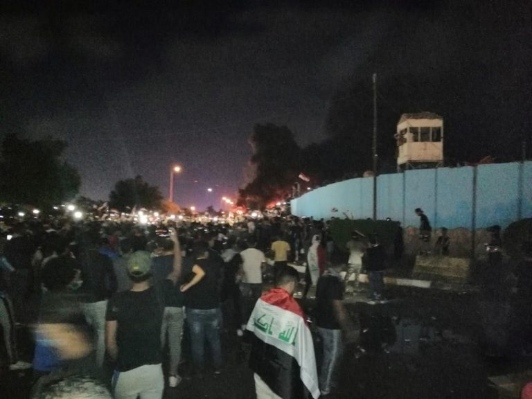 Iraqi protests marked by a bloody attack