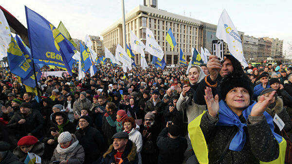"""In Kiev, on the eve of the """"Norman"""" summit, an opposition rally began"""