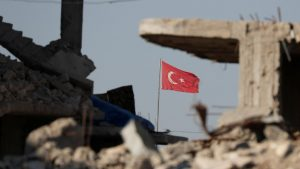 The situation in Syria: Turkish observation post turned into ruins
