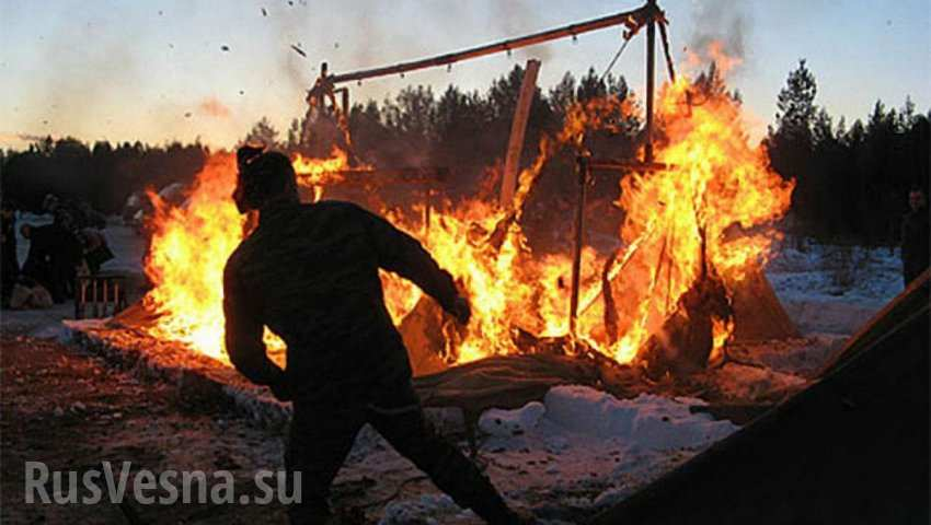 Fire broke out at a Ukrainian military training ground