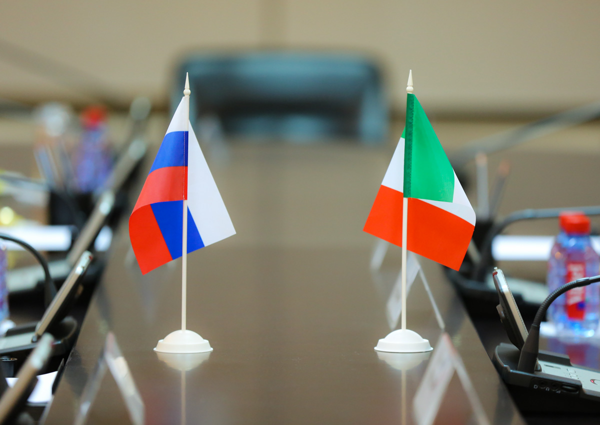 In Italy, expressed willingness to increase cooperation with Russia