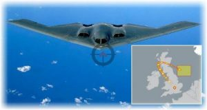 US bombers checked flights over the UK
