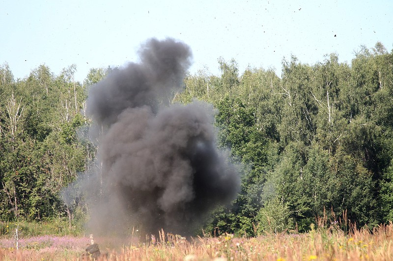 Two Kiev punishers blew up on their own mines
