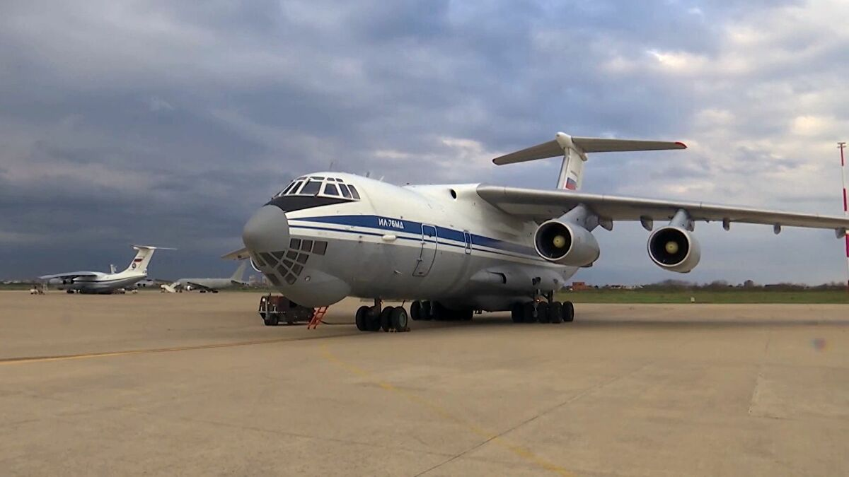Another IL-76 flew to Serbia with Russian military and equipment
