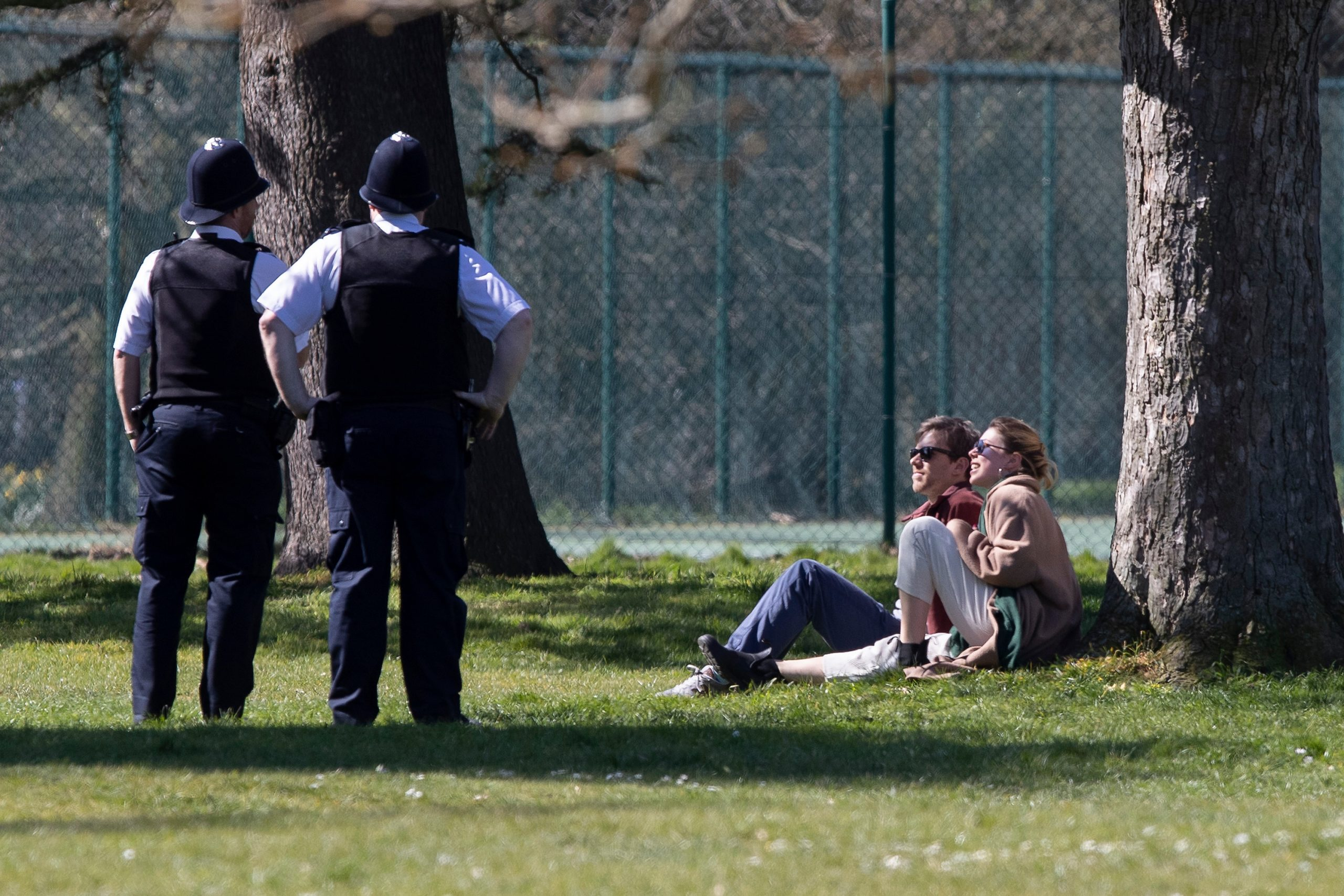 """Europeans don't sit at home so much that the authorities are advised """"not to fine people sunbathing in parks"""""""