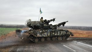 In the Donbass, a tank of Ukrainian punishers flew into the air