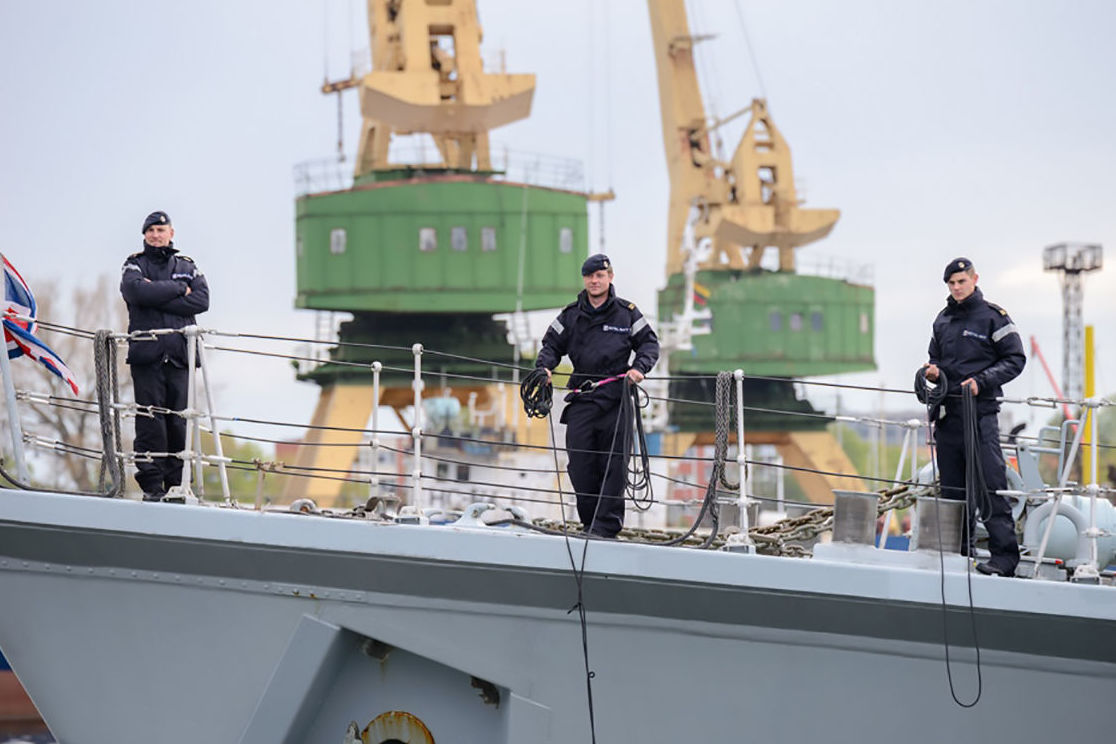 NATO warships arrive in Lithuania
