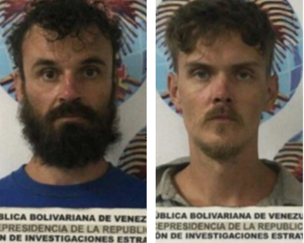 In Caracas, released photos of detained American militants