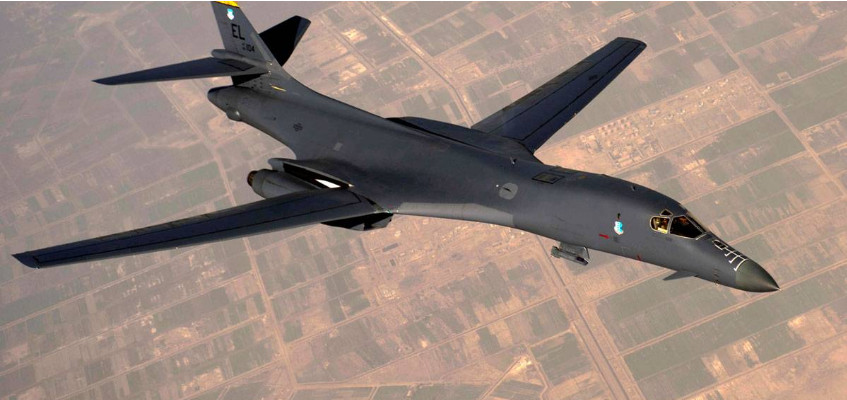 US Air Force B-1B bomber circled the western borders of Russia
