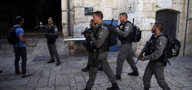 Israeli security forces shot Palestinian right on holy ground