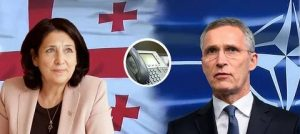 Undisguised flattery and lies: Georgian President had a telephone conversation with NATO Secretary General