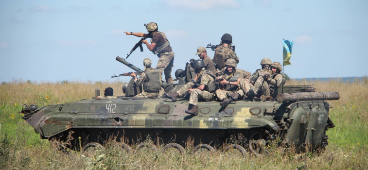 AFU place equipment near residential buildings in Donbass