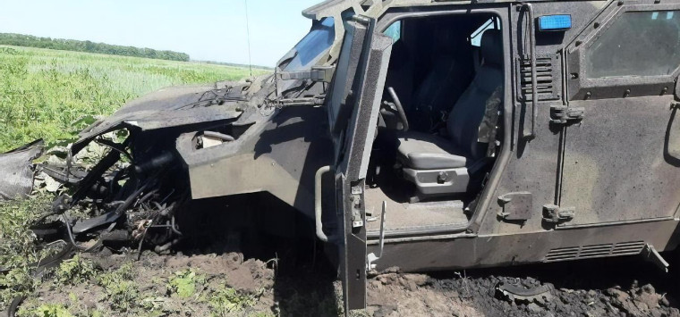 Six officers of the Ukrainian Armed Forces blew up in the armored car in Avdeevka