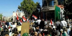 Syrians launched anti-American protests