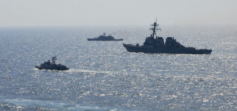 NATO ships carried out maneuvers in the Black Sea