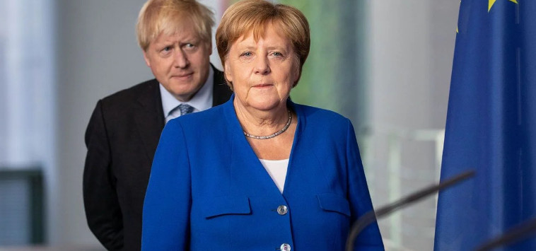 Merkel said that Britain will have to pay for Johnson's tough stance
