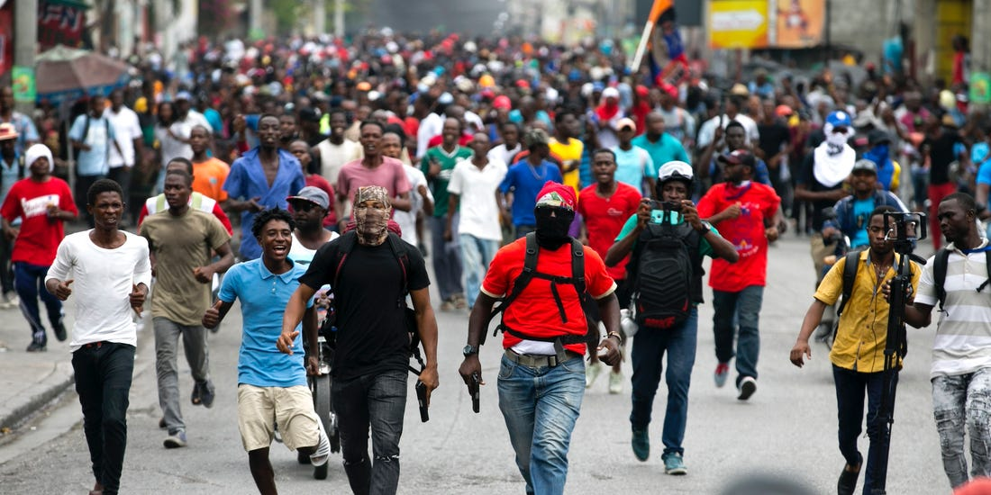 Two journalists were injured during protests by police officers in Haiti