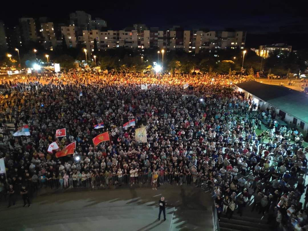 In Montenegro, any assembly on the background of mass protests was banned
