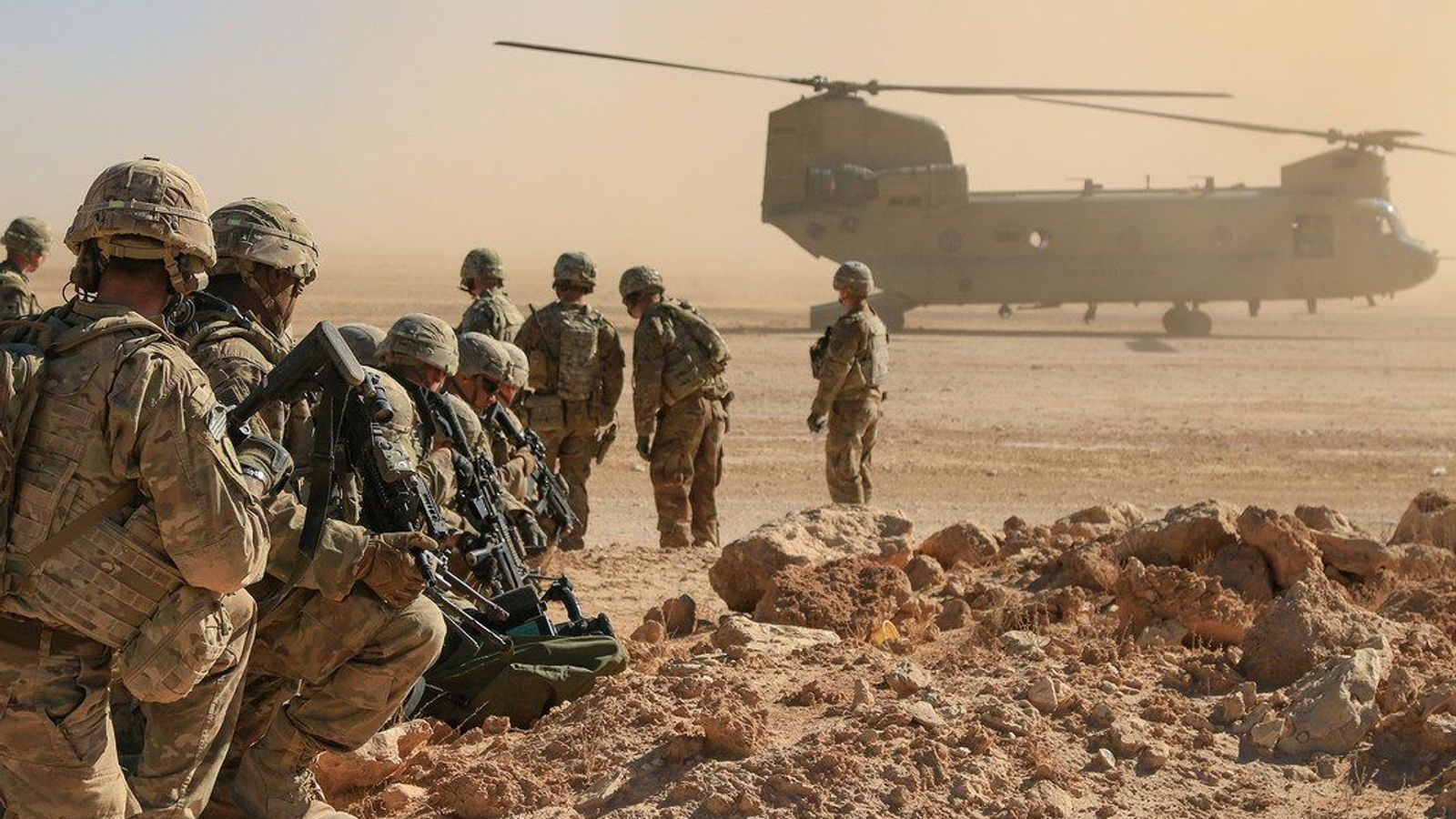 Media says American military base was fired in Iraq