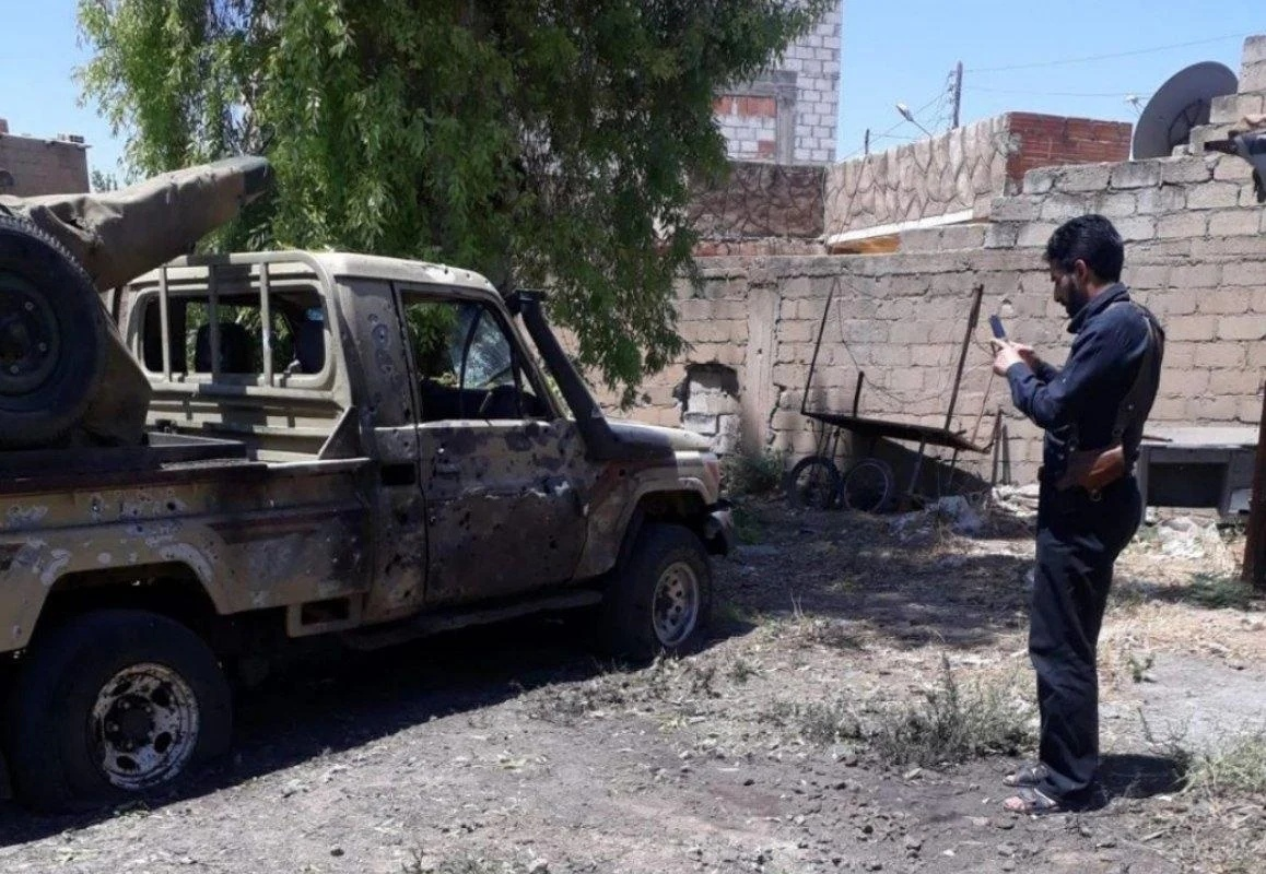 In Syria, unknown men blew up a military pickup truck of pro-Turkish militants