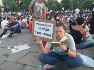 In the cities of Serbia, regular protests took place