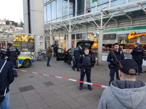 A car driven by an unknown person ran into a group of pedestrians in Berlin
